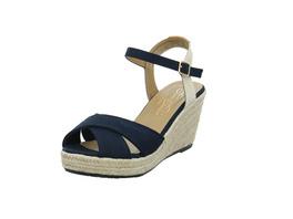 Tom Tailor Damen 8090101/NAVY Blaue Textil Sandalette