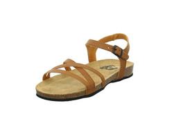Longo Damen 1006495 Braune Glattleder Sandalette