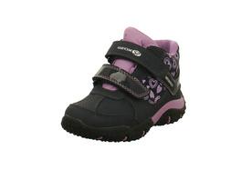 Geox Kinder J Baltin Blaue Synthetik/Textil Sneaker