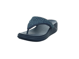 Crocs Kinder Women´s Crocs Monterey Diamante Wedge Flip Blaue Synthetik Pantolette